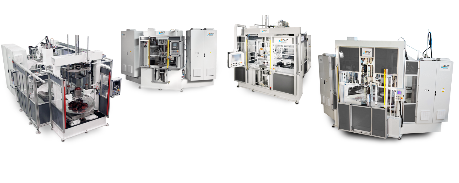 Automatic coil winding and inserting centres